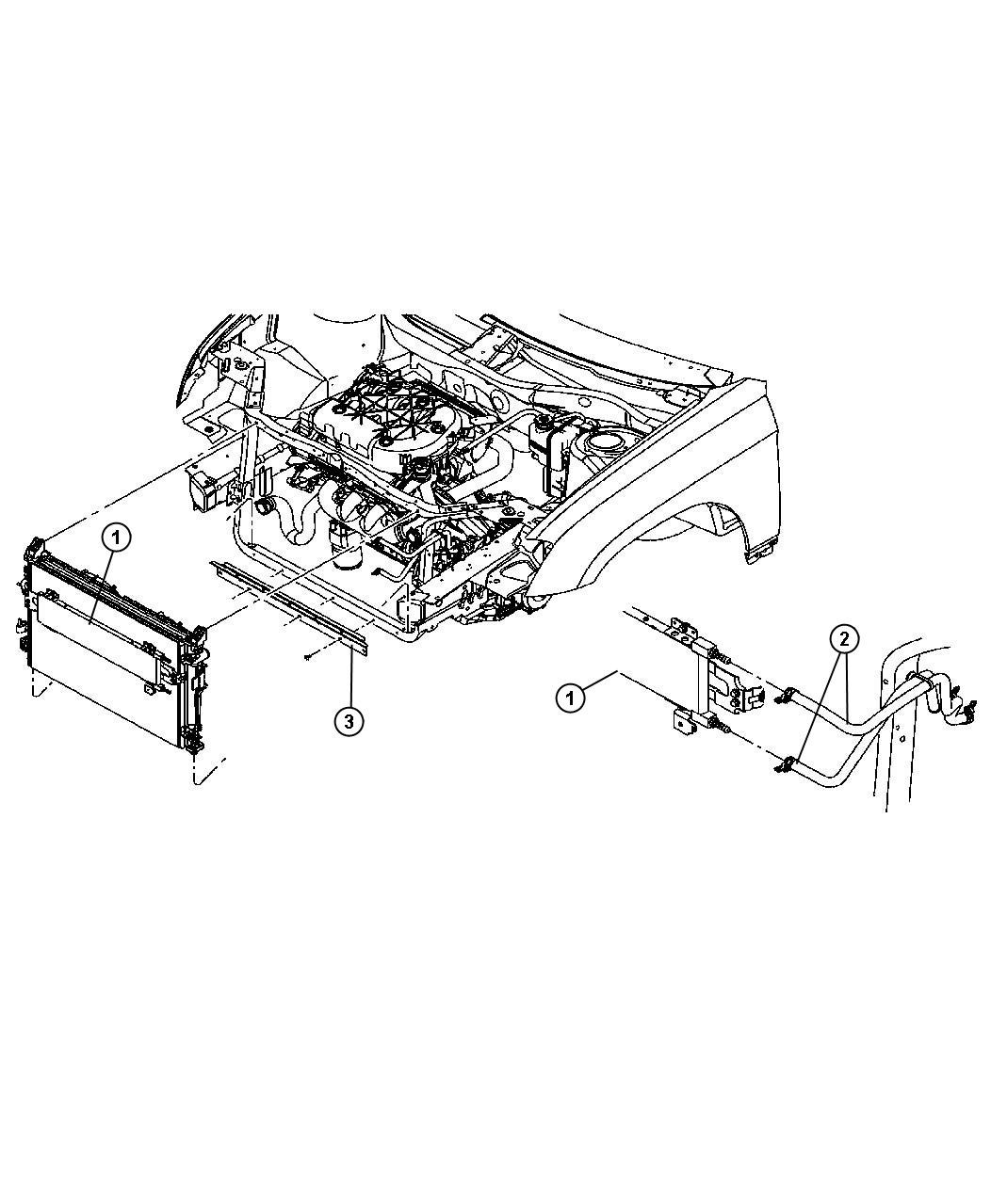 Chrysler Pacifica Tranmission Cooling Line