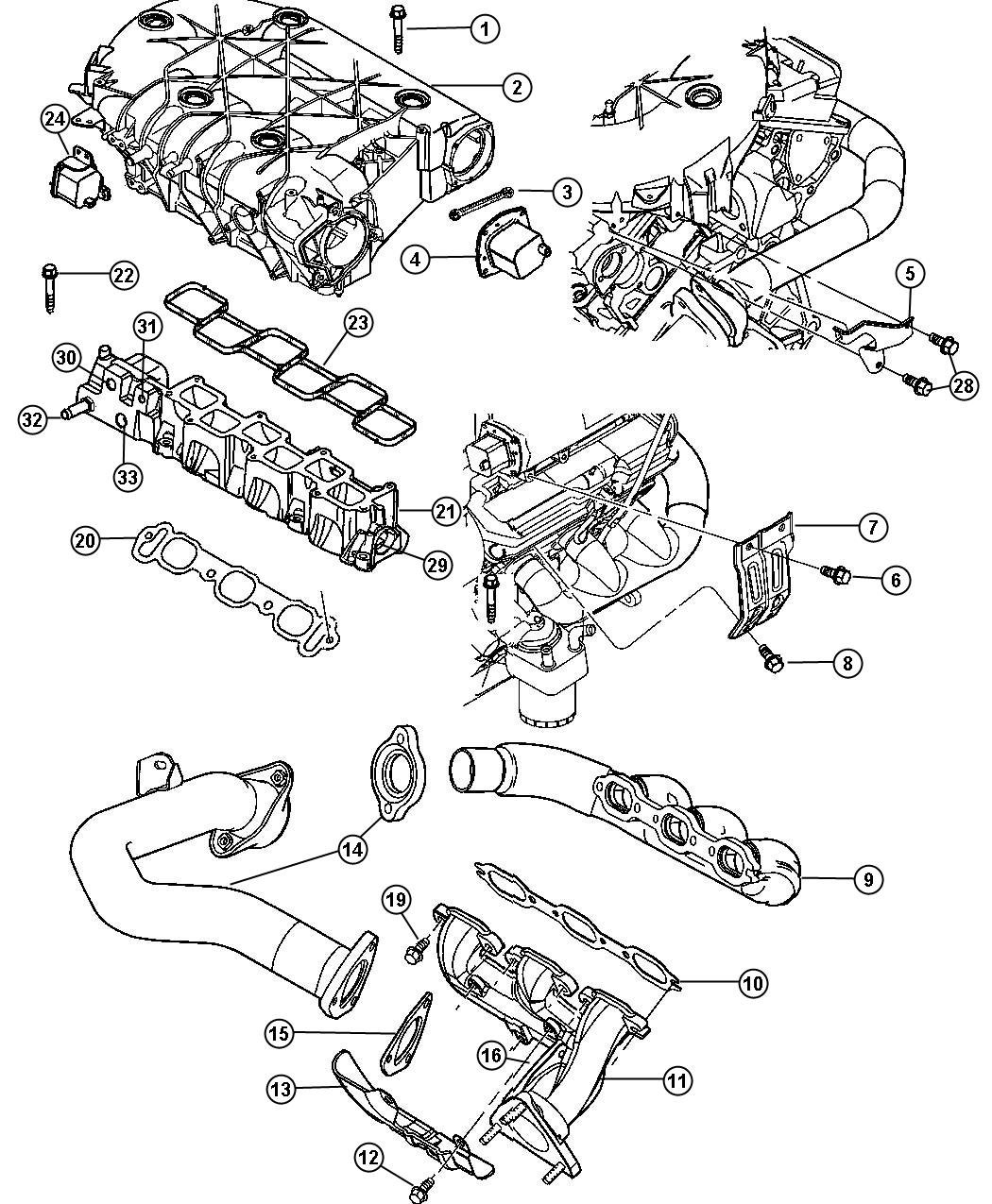 Chrysler Pacifica Manifold Intake And Exhaust 3 5l Engine