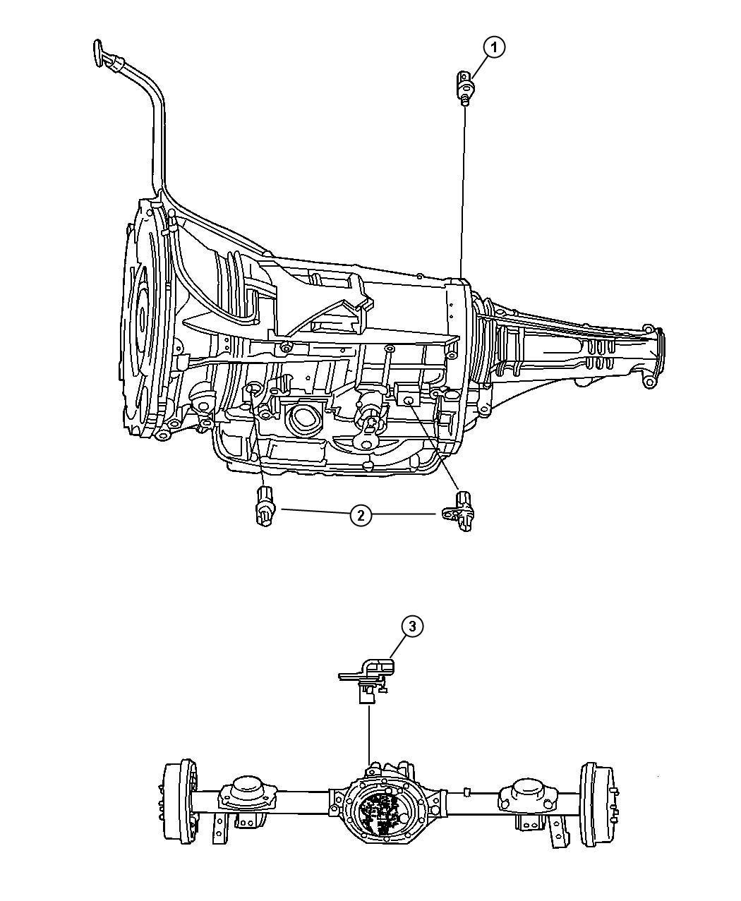 Dodge Ram 4x4 5 7l V8 Hemi Mds Vvt 6 Spd Automatic 65rfe Sensors Drivetrain