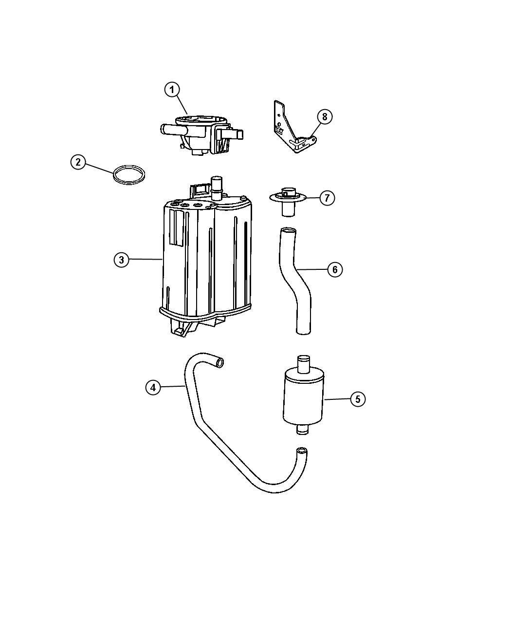Dodge Durango Vacuum Canister And Leak Detection Pump