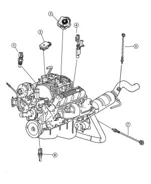 2000 Dodge Ram 1500 Sensors Engine [52 EL0, 59L EM0] Gas