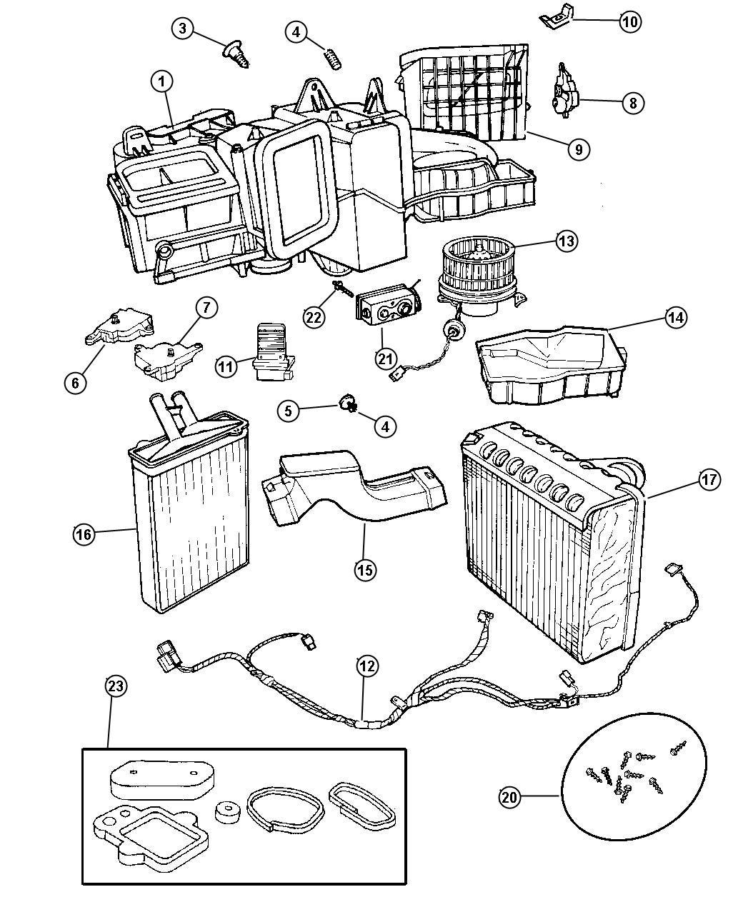 Chrysler Lhs Air Conditioning Unit
