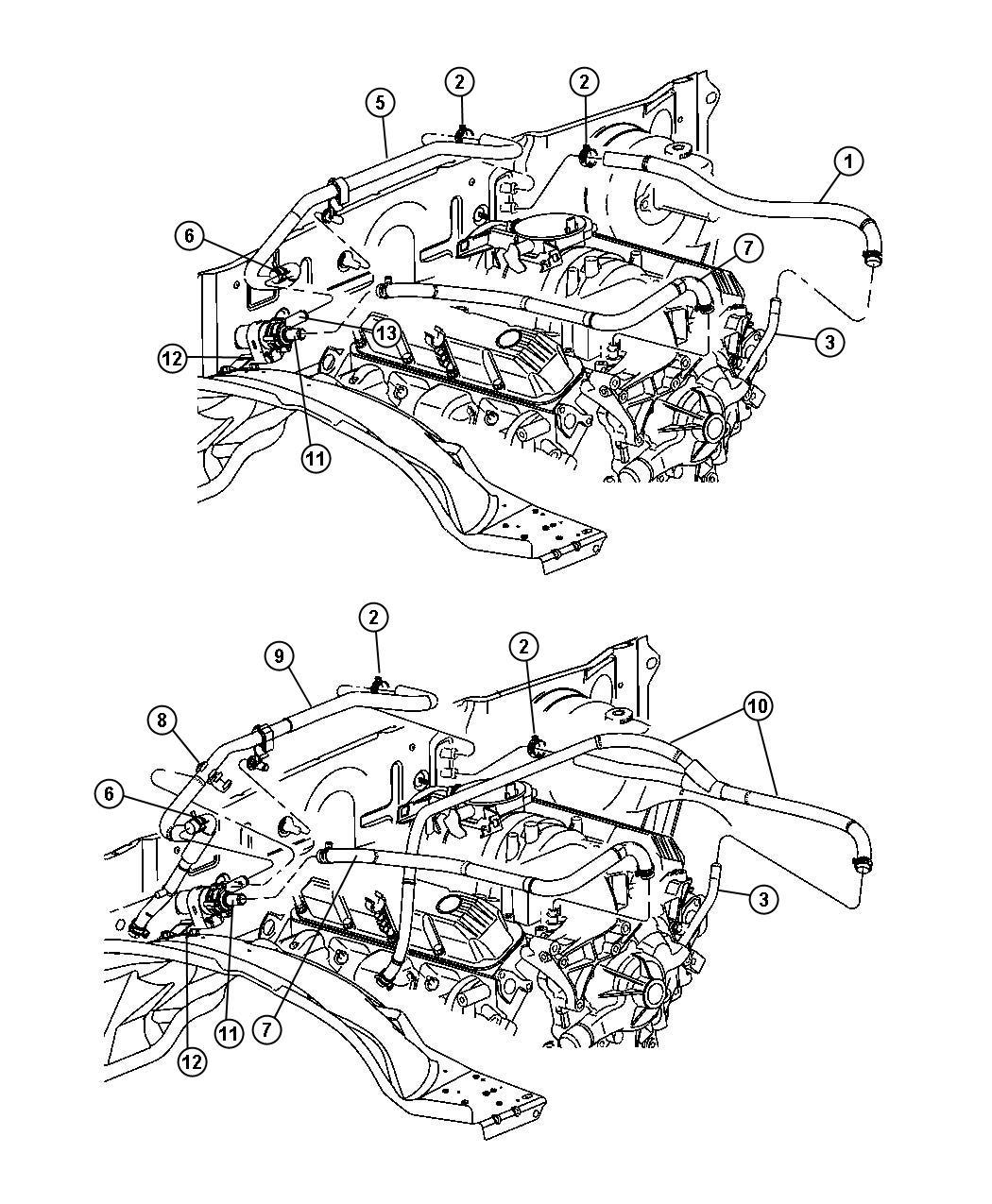 Dodge Durango Plumbing Heater 5 9l