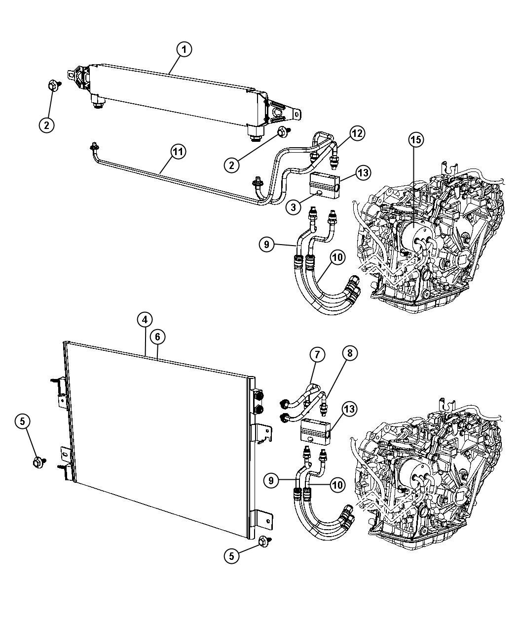 Jeep Compass Lines Oil Cooler