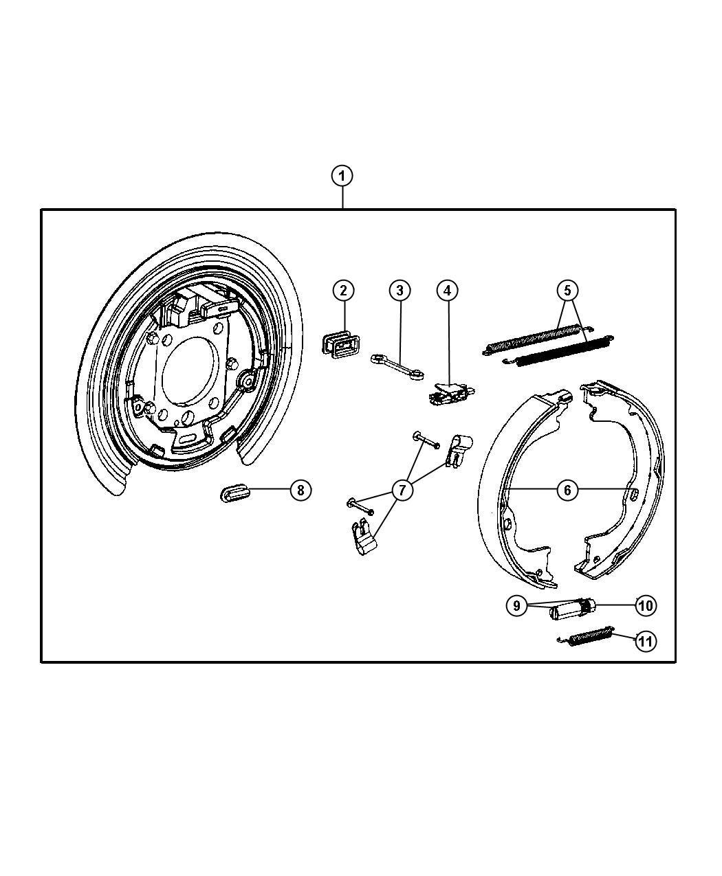 Dodge Nitro Parking Brake Assembly Rear Disc