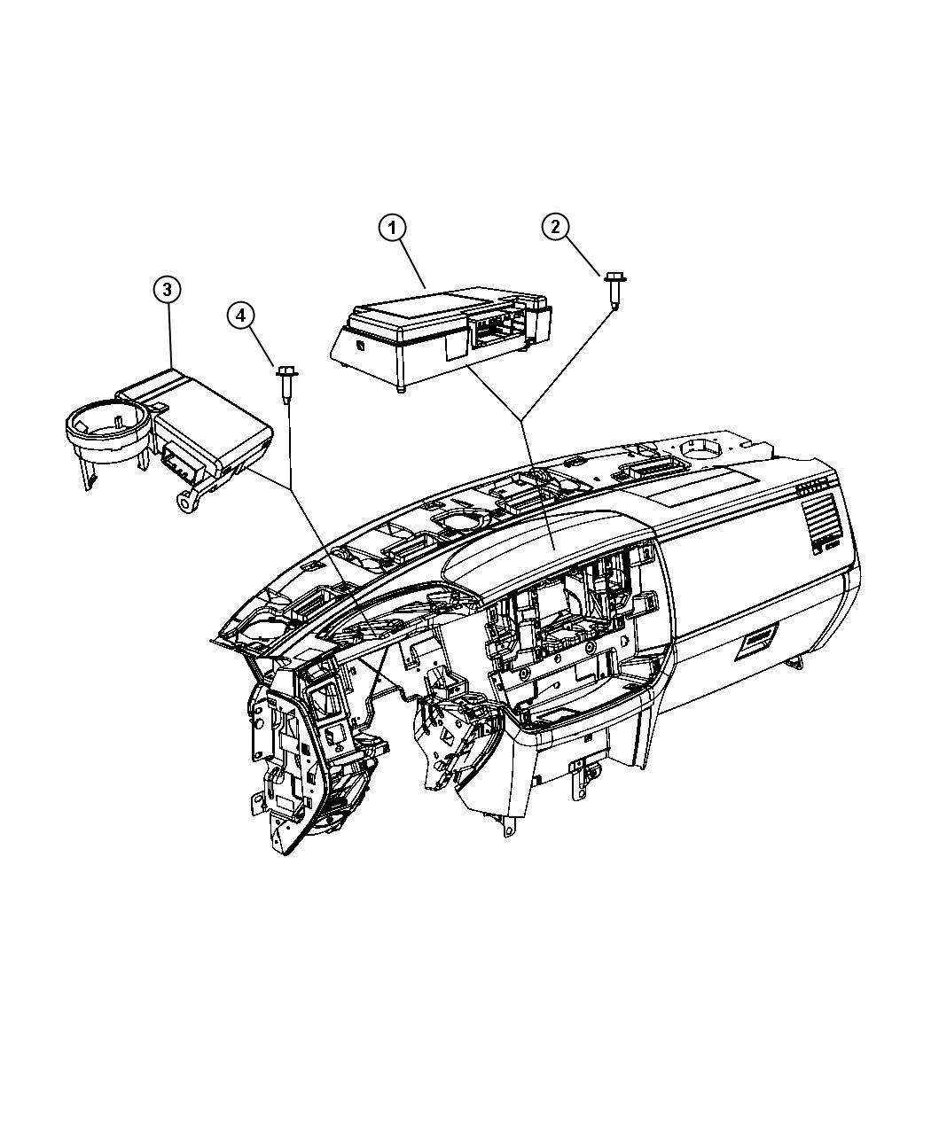 Dodge Ram Modules Instrument Panel