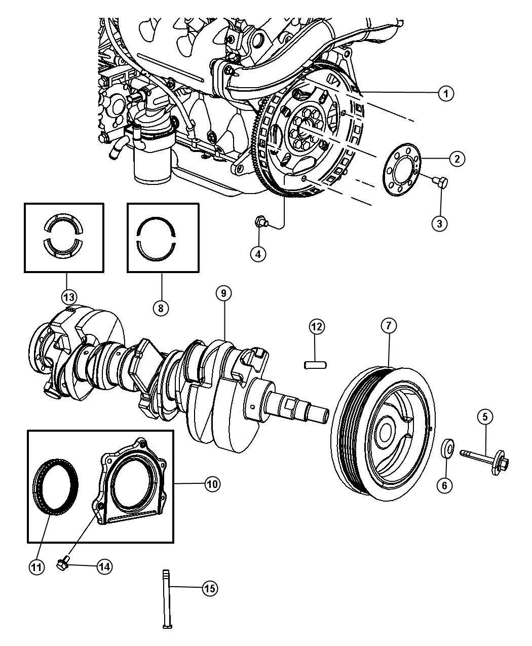 Chrysler Pacifica Crankshaft Crankshaft Bearings Damper