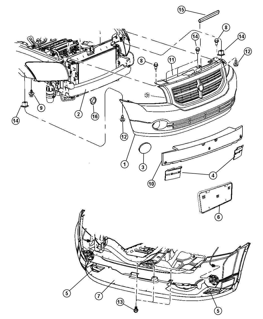 Dodge Caliber Fascia Front