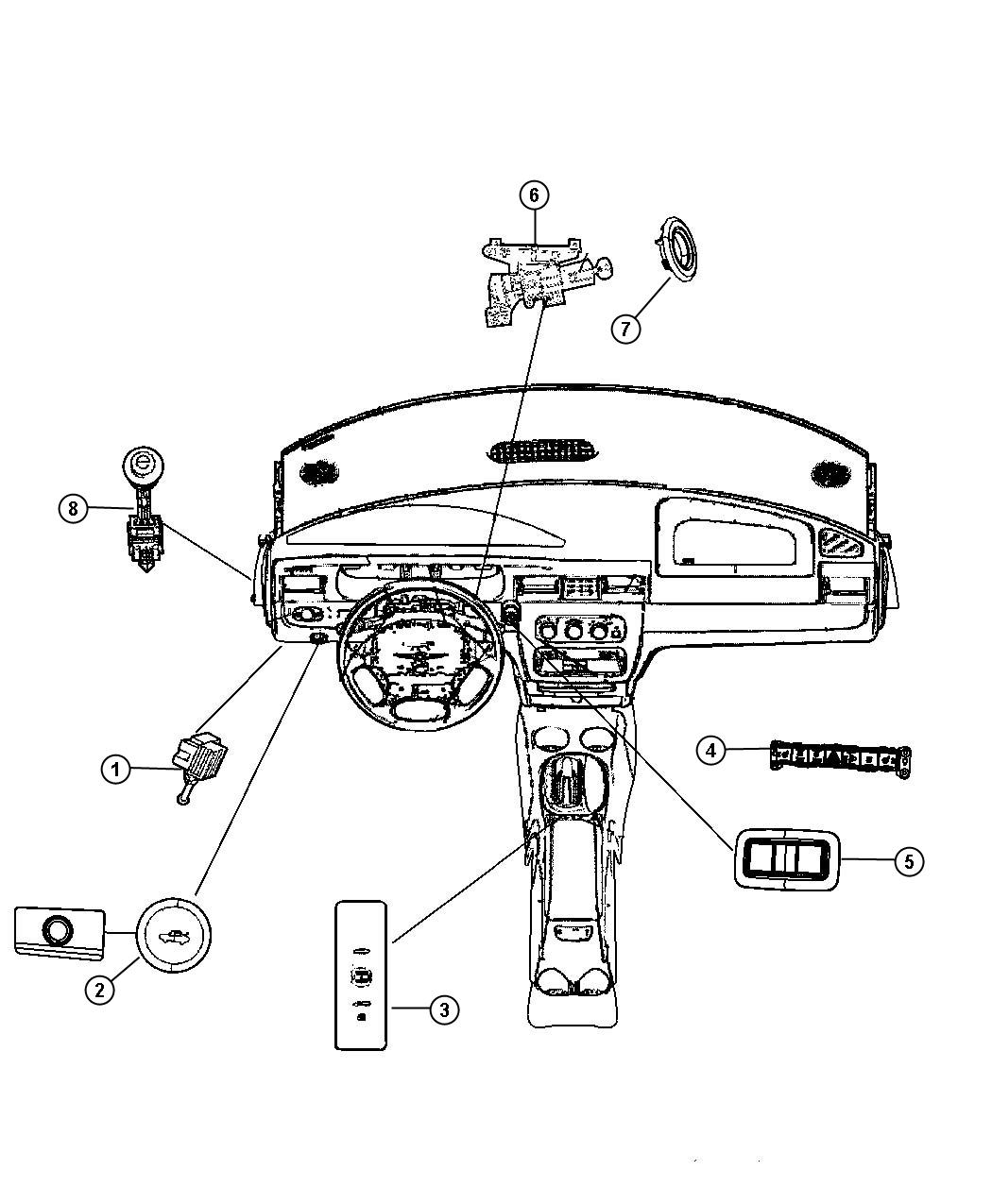 Chrysler Sebring Switches Instrument Panel