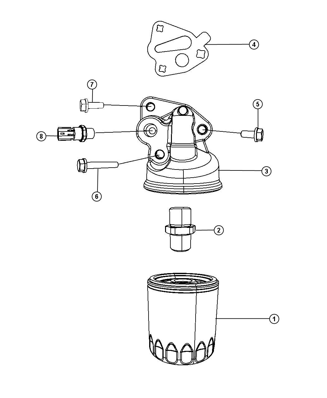 Engine Oil Filter And Adapter 3 3l Ega
