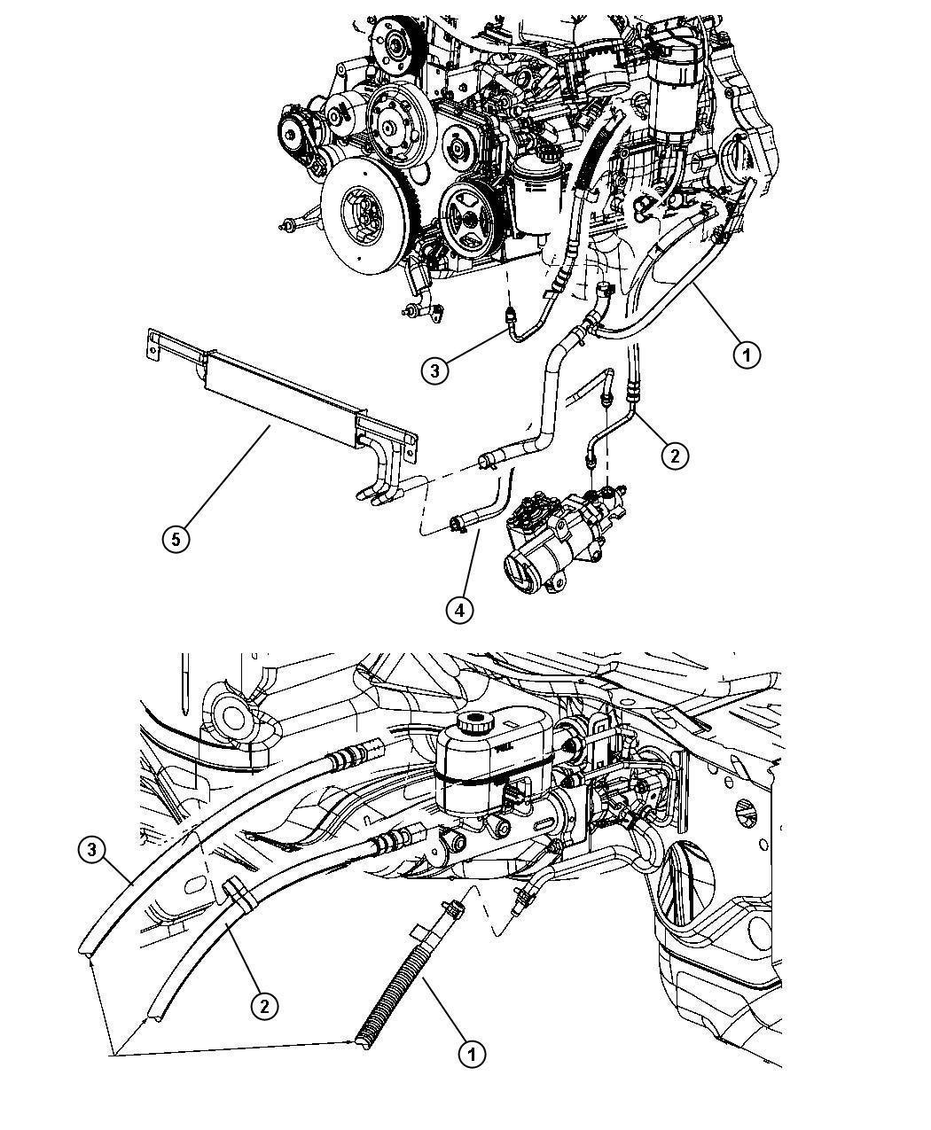 Dodge Ram Power Steering Hoses Hydro Boost