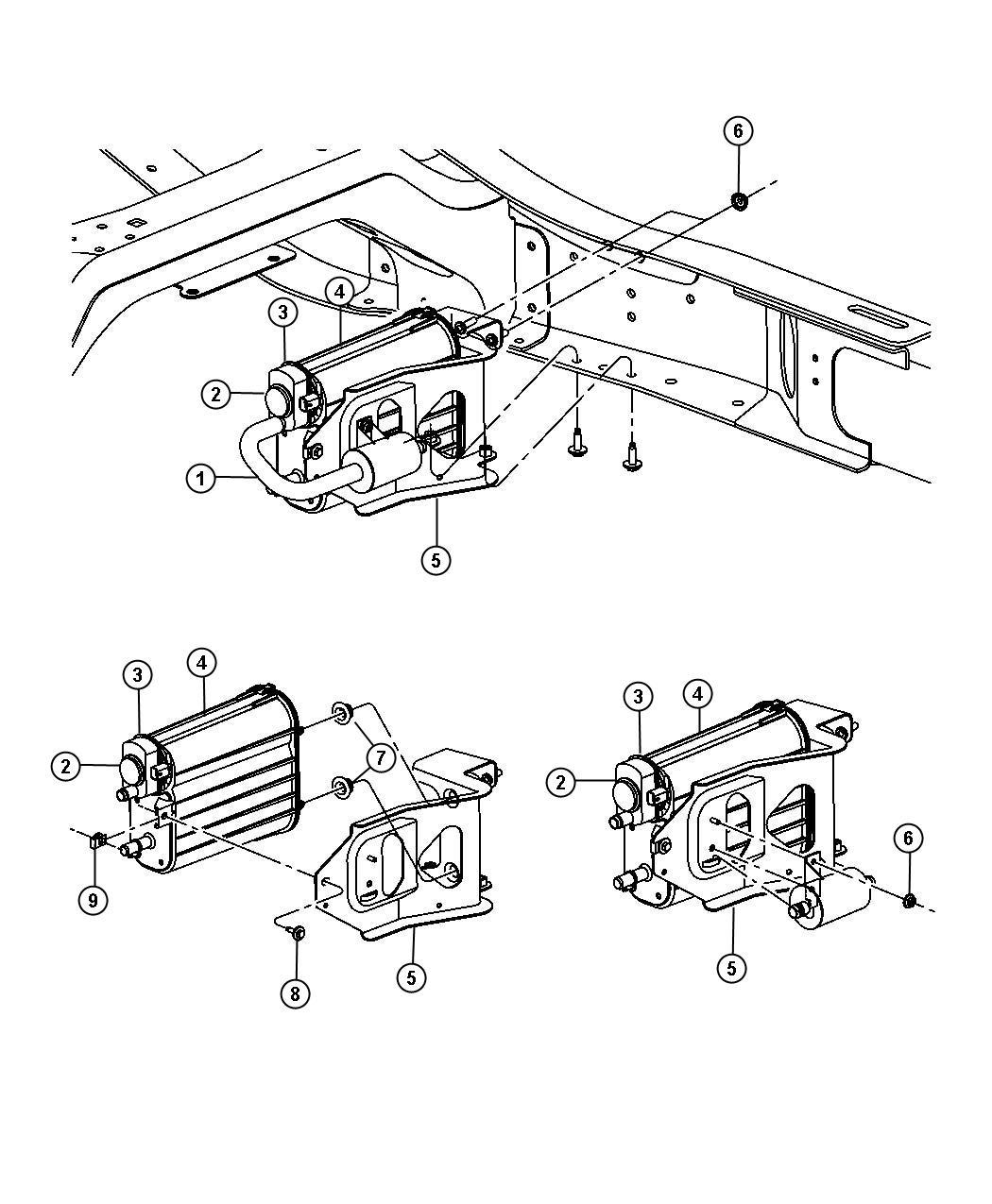 Dodge Ram Vacuum Canister Amp Leak Detection 5 7l