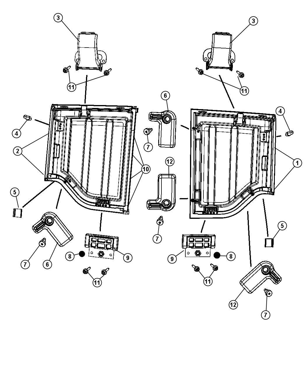 Jeep Wrangler Targa Top Panels And Hardware Vko