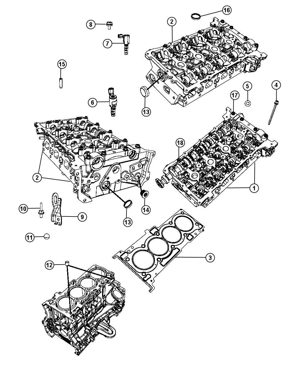 Dodge Avenger Cylinder Head 2 4l Edg