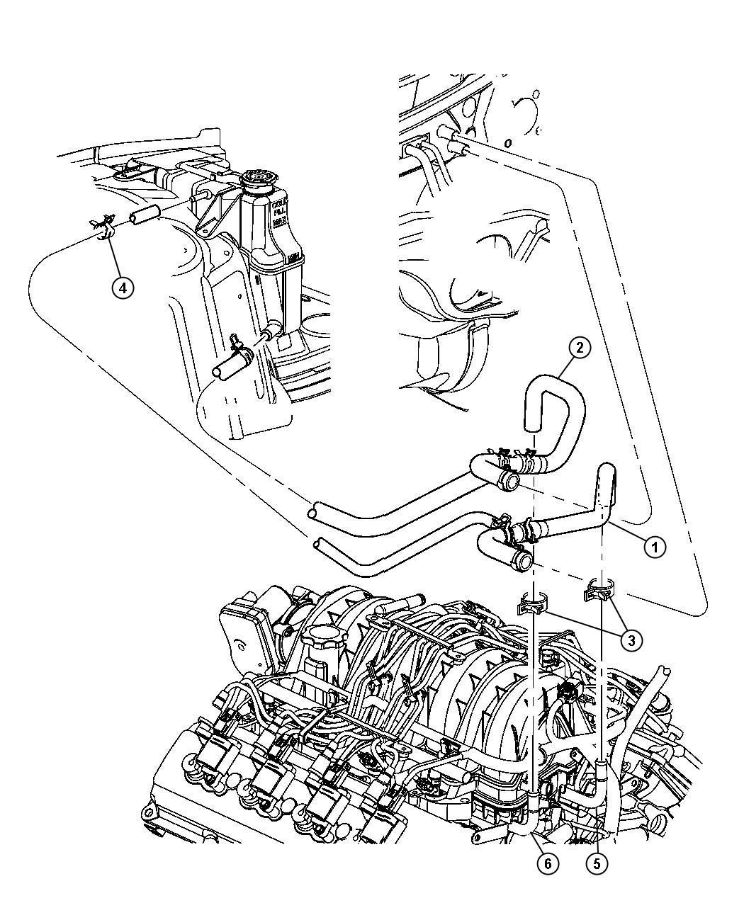 Dodge Charger Heater Plumbing