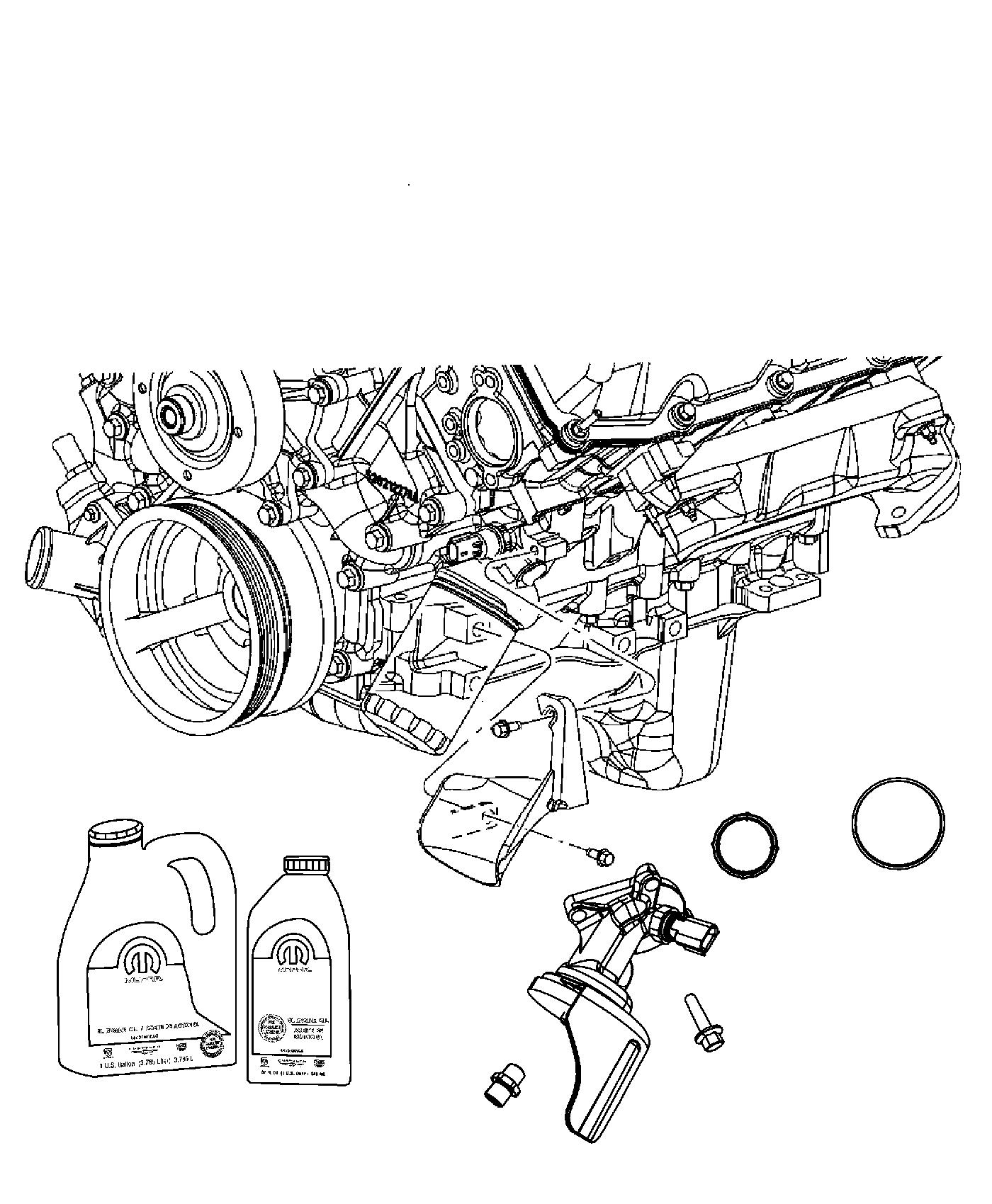 Jeep Commander Engine Oil Filter Adapter And Splash