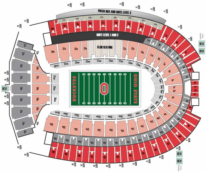 Ohio State Stadium Seating Chart Rows Brokeasshome: Ohio State Football Stadium Map At Codeve.org