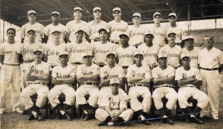 Los Cuban Sugar Kings Triple AAA Baseball Club in 1959.