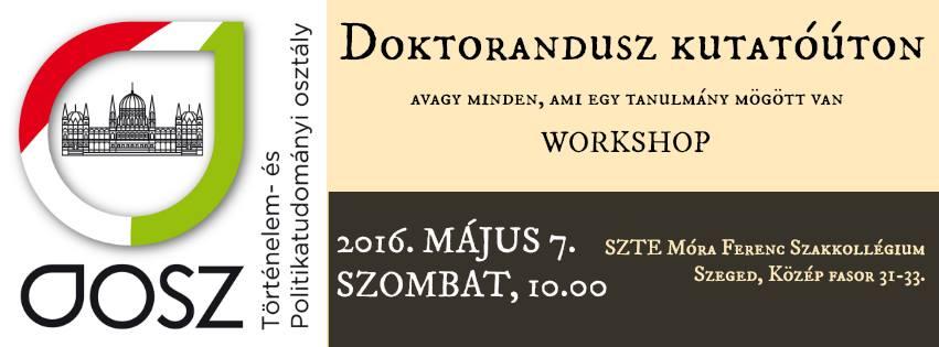 NTP-SZKOLL-15-097 Doktorandusz workshop