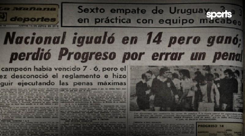 El día que Nacional y Progreso empataron 14 a 14.. pero ganó Nacional