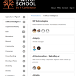 Startup School by YCombinator (AI section)