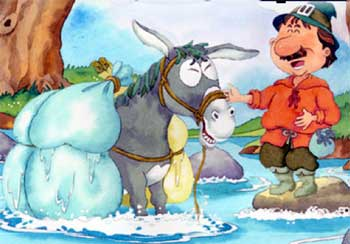A Merchant and his Donkey! Short Moral Stories for Kids in