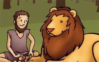 Lion and Slave Short Story - Helping Others Moral Stories