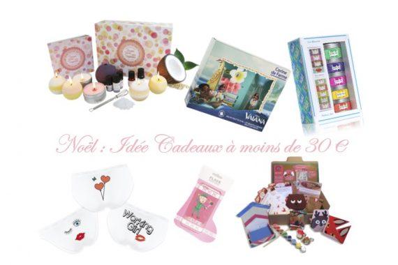 Noël : Idée Cadeaux à moins de 30 Euros