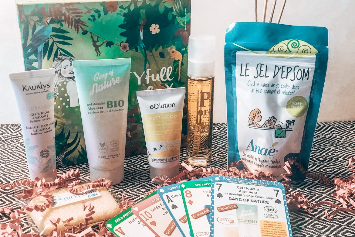 BOX BEAUTE #6 : BIOTYFULLBOX – AOUT 2019 – « La Jungle Après Soleil »