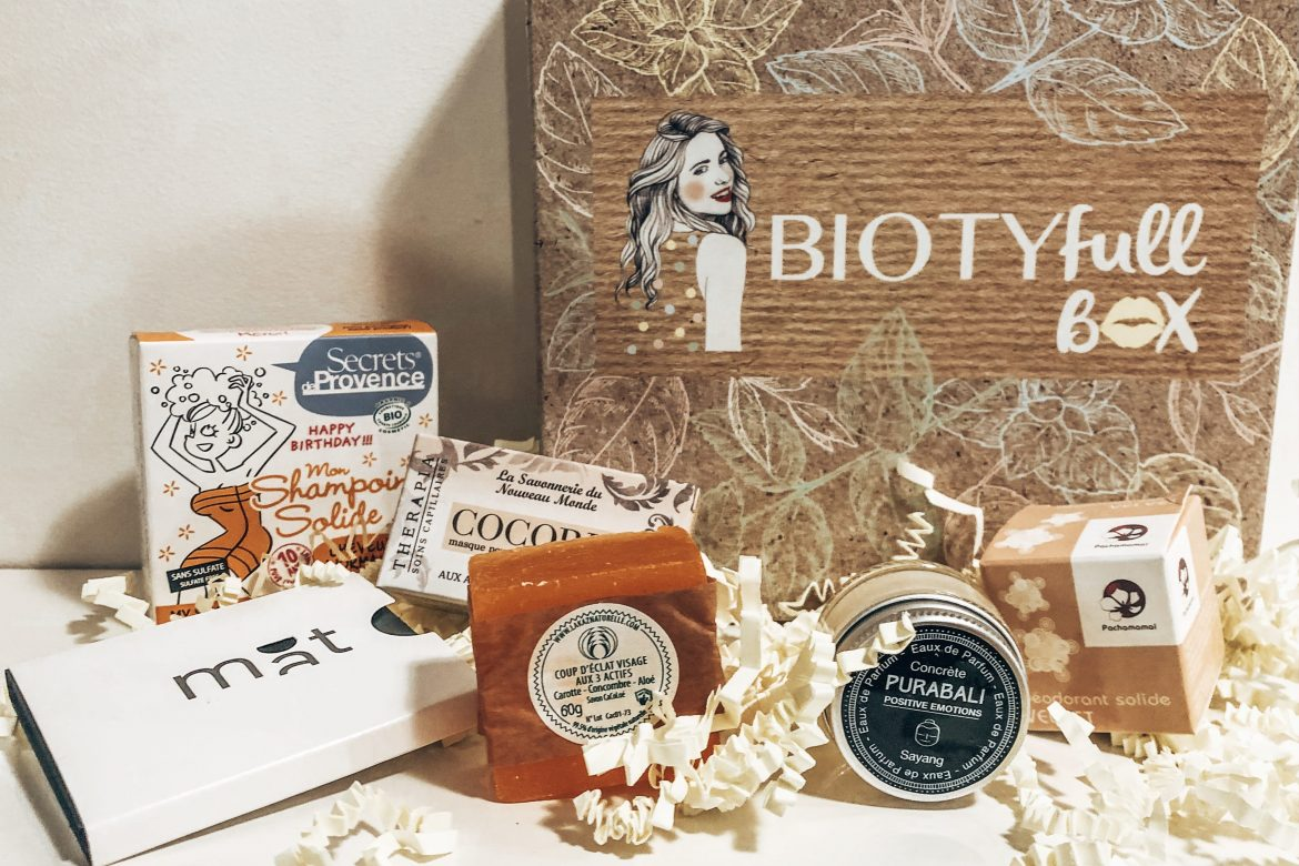 BOX BEAUTE #8 : BIOTYFULLBOX – Octobre 2019 – « La 100% Solide 100% Recyclable »