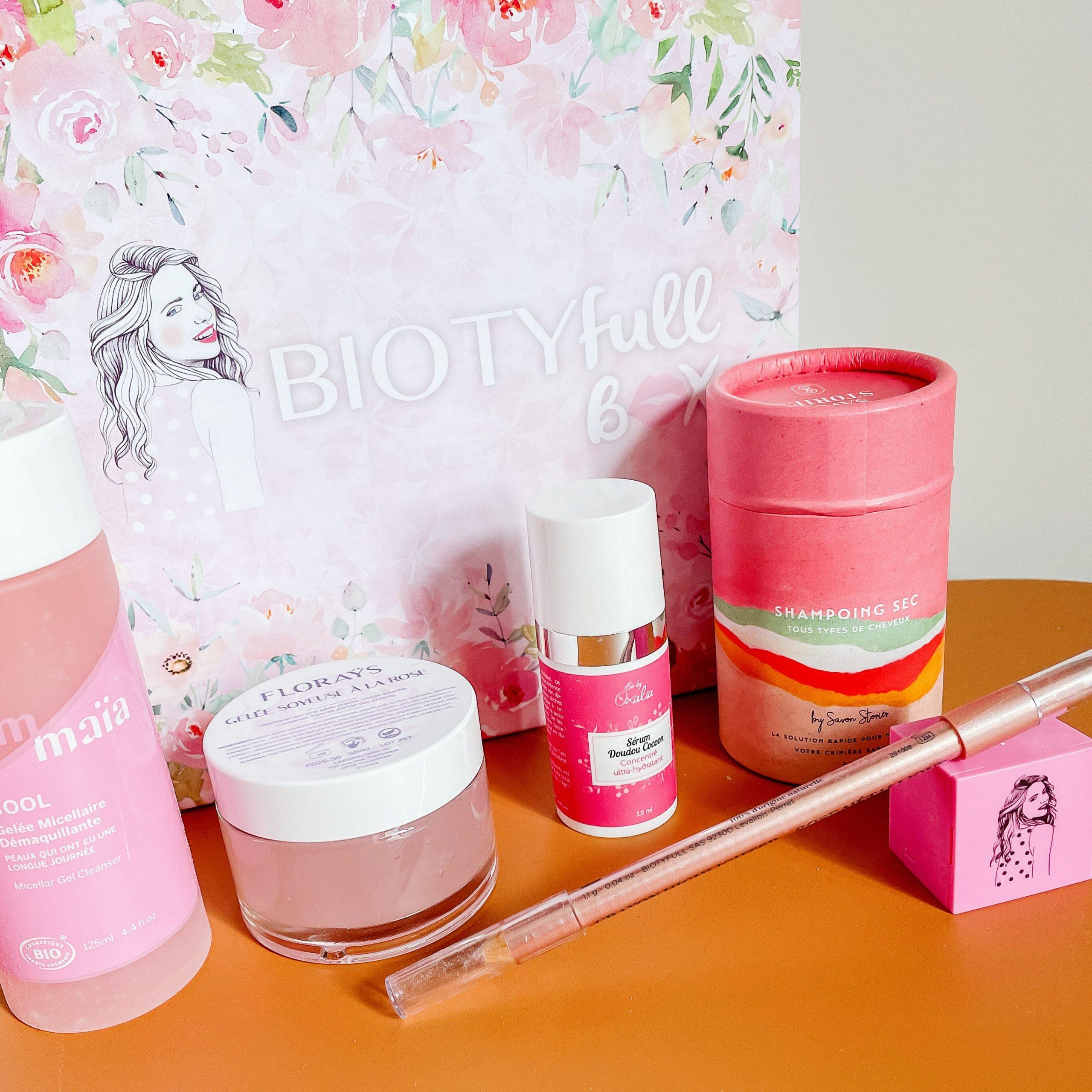 Biotyfullbox juin rosée morandmors beauty box soin visage corps blog lifestyle