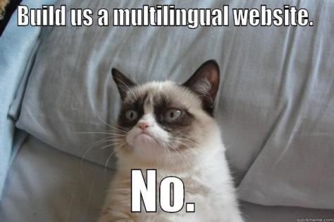 Build us a multilingual website