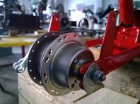 Mozzo posteriore restaurato - Rear hub restored