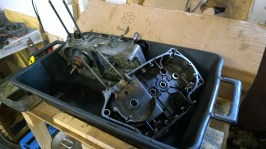 Motore pronto per essere lavato - Engine ready to be cleaned