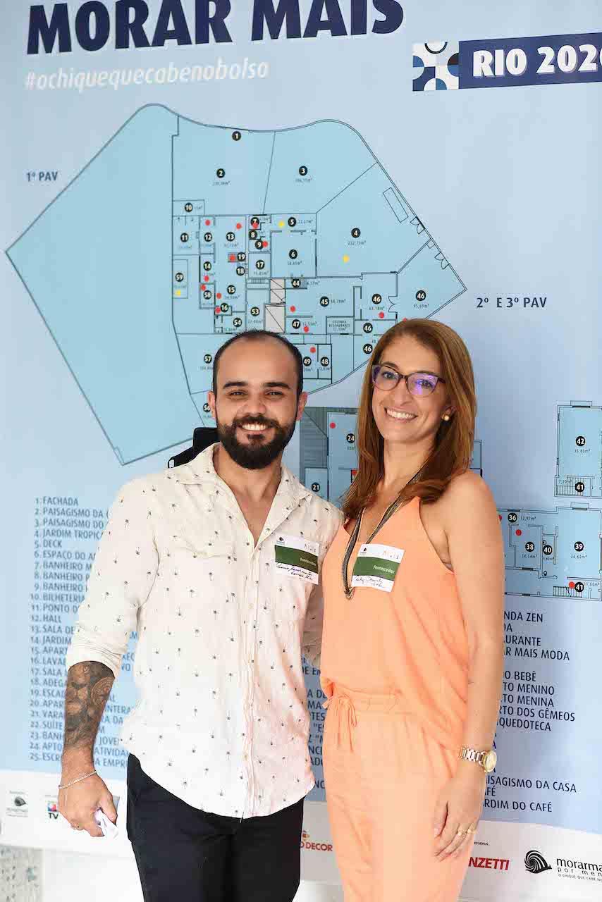 Café da Manhã Morar Mais Rio 2020 - Romulo Alves e Daniele Pitta da Passeio Revestimentos