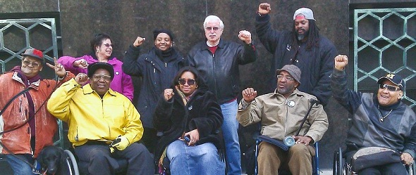 Picture of Supporters gather outside courthouse on April 4 for S. Baxter Jones.