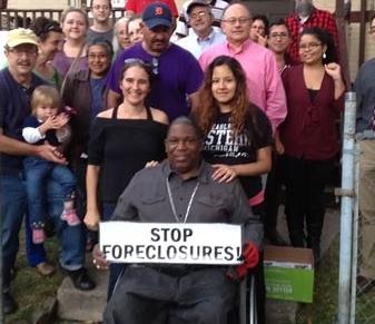 Jerome Jackson at the Hernandez eviction defense vigil