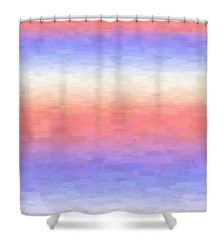 Calming Strokes Shower Curtain