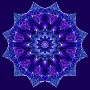 Purple and Blue Mandala