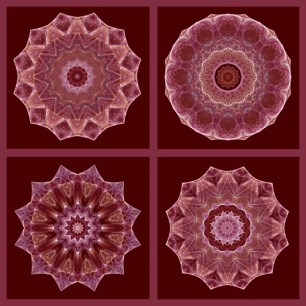 Dusty Rose Four Square Fractal