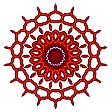 Orange Teardrop Mandala
