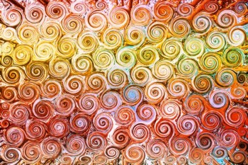 Orange and Yellow Swirls