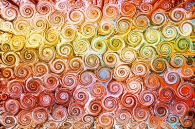 Orange and Yellow Swirls