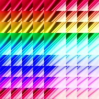 Triangle Rainbow Fractal