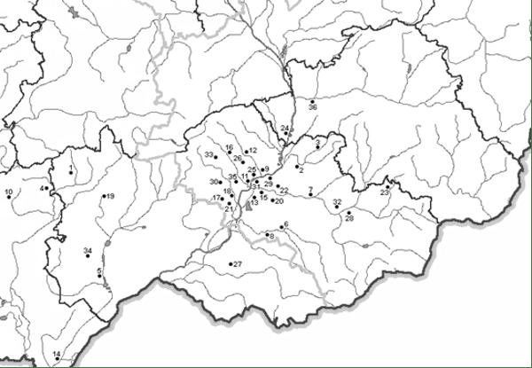 Sídliště kultury s moravskou malovanou keramikou ve střední a severní části dolního Pomoraví.
