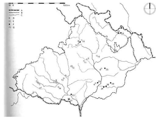 Rozšíření keramiky šáreckého stupně a želiezovského typu.