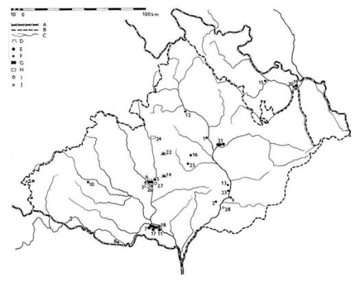 Rozšíření pavlovienu/gravettienu a epigravettienu.