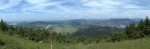 Panoramatický pohled na Štramberskou vrchovinu.