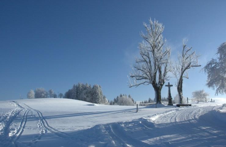 Zimní krajina v okolí Soláně.