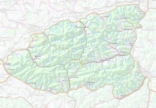 Geomorfologické rozdělení Hostýnských vrchů.
